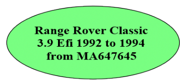 RRC 3.9 Efi 1992 to 1994 from MA647645